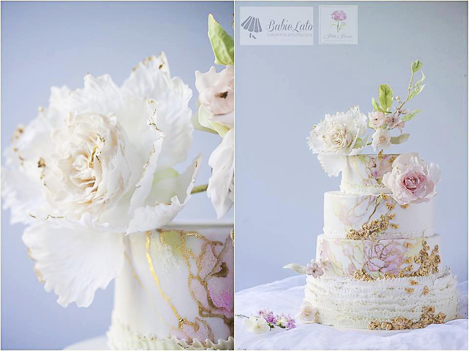 Tort weselny na zamówienie z dostawą w kwiaty