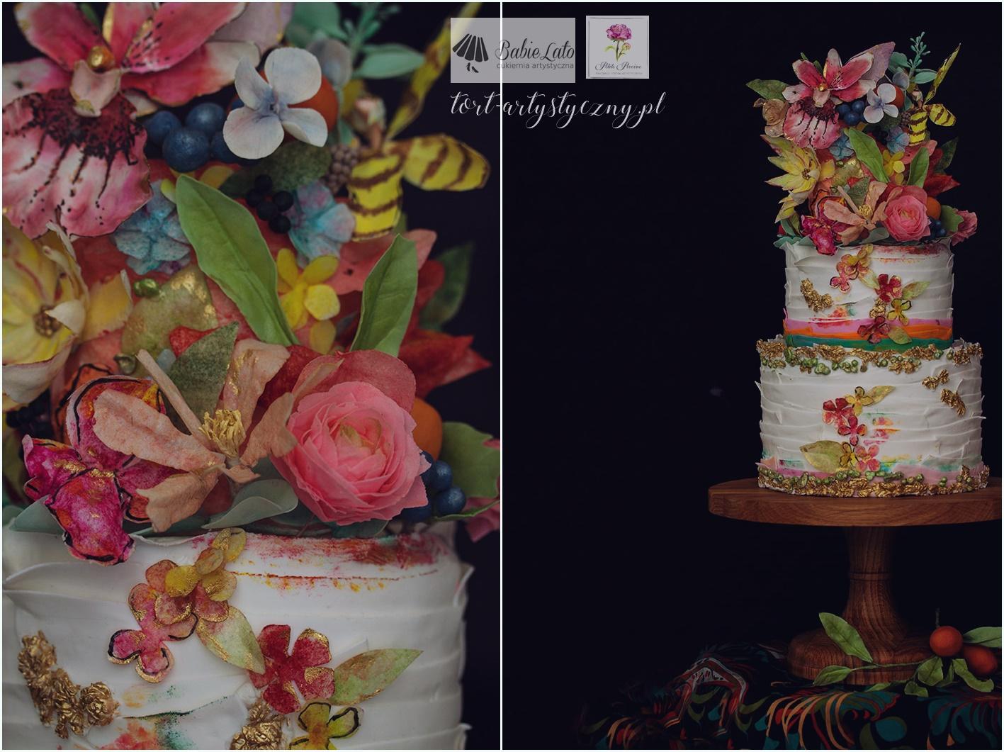 Kolorowy tort na zamówienie