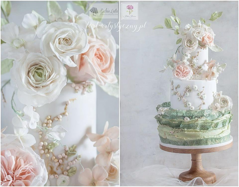 Tort weselny na zamówienie - wiosenny
